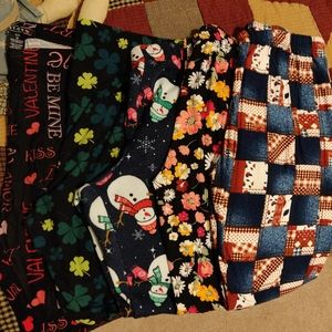 5 Pair Seasonal Women's 1XL Leggings
